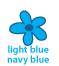 light blue navy blue